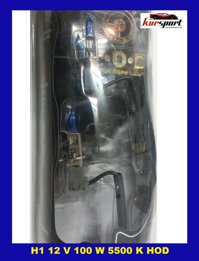 2 LAMPARAS BOMBILLAS CERAMICAS HOD H1 12V 100 W 5500 K LUZ + BLANCA TIPO XENON